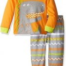 Toddler Boy's Size 3T OR 4T Dinosaur, Dino Orange Jersey Pajama Set