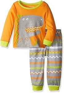 Toddler Boy's Size 3T OR 4T Dinosaur, Dino Orange Jersey Pajama Set