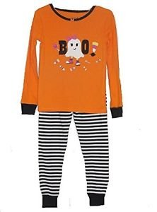 Girl's Size 3T HALLOWEEN Candy Trick Or Treat Ghost Boo Pajama Set