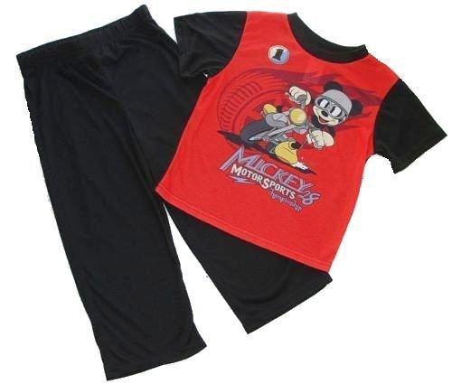 DISNEY MICKEY MOUSE Motor Sports Motorcycle Size 4T Pajama Pants Set,