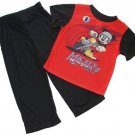 DISNEY MICKEY MOUSE Motor Sports Motorcycle Size 4T Pajama Pants Set,