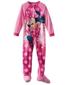 Minnie Mouse Girl's Size 6 OR 8 Jewels Fleece Footed Blanket Pajama Sleeper