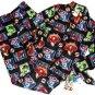 MARVEL AVENGERS HULK, SPIDER-MAN Boy's Size 8 Flannel Pajama Set