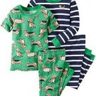 CARTER'S Baby Boy's 24 Months 4-Piece Dog Print, Striped Pajama Set