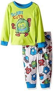 Toddler Boy's Size 3T OR 4T Monster 'Scary Cute' Jersey Pajama Set