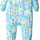 Carter's Boy's Size 3T, 4T OR Fleece Blue Winter Polar Bear Pajama Sleeper