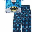 Boy's Size 8 BATMAN Superhero, Polyester Jersey Pajama Set