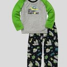 CARTER'S Boy's Size 3T SPACE ALIEN Far Beyond Awesome Pajama Pants Set