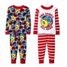 Boy's 2T, 3T OR 4T 4-Pc Pajama Set with Big Bird, Elmo, Grover, Cookie Monster