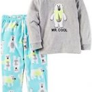 Carter's Boy's 4T Mr. Cool Polar Bear 2-Piece Fleece Pajama Set