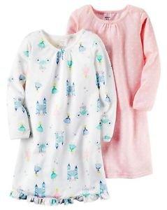 CARTER'S Girl's Cinderella Princess, Pink Star Print Size 8-10 Nightgown Set