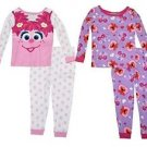 Sesame Street Girls' Abby and Elmo 4T 4-Piece Cotton Pajama Set