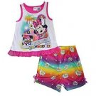 MINNIE MOUSE Girl's 2T, 3T, 4T OR 5T Lovin' Summer Tank Top Pajama Shorts Set