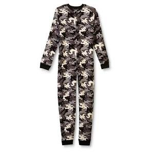 Boy's Size 10/12 Halloween Camo Ghost Fleece Footless Pajama Sleeper