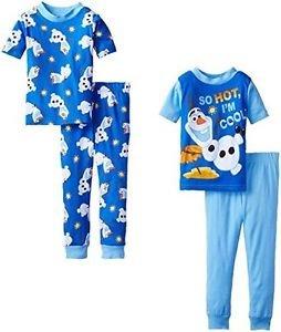 Frozen's Olaf 'So Hot I'm Cool' 4-piece Cotton Size 4 Pajama Set