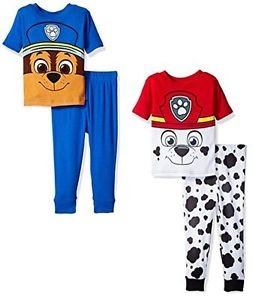 Paw Patrol Boy's Size 3T OR 4T Marshall and Chase Graphic Pajama Sets