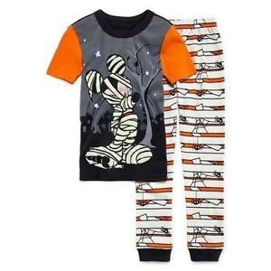 MICKEY MOUSE Size 3 MUMMY HALLOWEEN Glow-in-the-Dark Pajama Pants Set