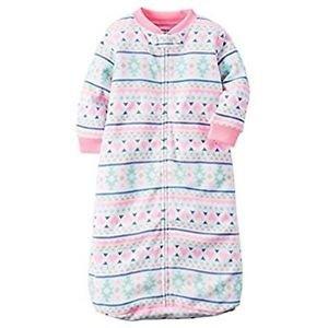 Carter's Baby Girls 0-9 Months Fair Isle Zip Up Fleece Sleepsack, Bag