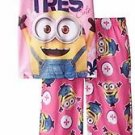 Despicable Me Girls' Size 4 Tres Cute 2-Piece Pajama Set