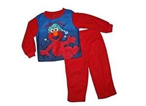 Sesame Street Boy's 4T OR 5T Bedtime Elmo Flannel Pajama Sleepwear Set
