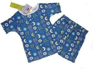 DREAM GIRLZ Size 4 Shorts Pajama Set, 'Moonlight', Butterflies