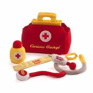 GUND Classic Children's Monkey Curious George Doctor's Plush Medical Kit