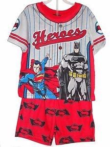 BATMAN, SUPERMAN Boy's Size 6/7 OR 8 Superheroes Pajama Print Shorts Set