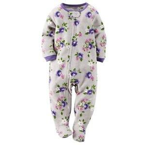 Carter's Girl's 3T Fleece Floral Blanket Pajama Footed Sleeper, Footie
