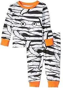 Baby Boy's Size 0-3 Months Glow-in-the-Dark Halloween Mummy Pajama Set