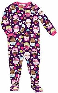 Carter's Girl's 3T Cupcake Dark Purple Fleece Footed Blanket Pajama Sleeper