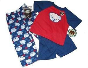 ME AND MY TEDDY Boy's 2T 3-Piece Pajama Set Small Plush Teddy Bear