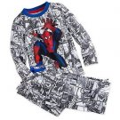 DISNEY SPIDER-MAN Boy's 5/6 OR 7/8 Comic Graphic Cotton Pajama Pants Set