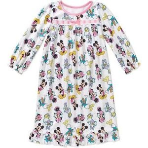 Minnie Mouse Girl's Size  3T, 4T OR 5T Flannel Nightgown, Nightshirt