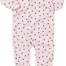 CARTER'S Girl's Size 3T Pink Hearts, Winter Bunny Fleece Footed Pajama Sleeper