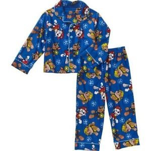 Paw Patrol Boy's Size 4T Marshall, Chase and Rubble Flannel Pajama Set