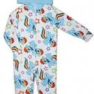 MY LITTLE PONY Girl's 8 OR 10 Fleece Hooded Pajama Sleeper, Rainbow Dash