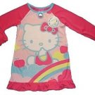 HELLO KITTY Size 4 Pink Satin Nightgown, Nightshirt