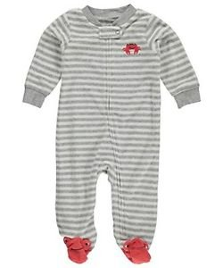 Carter's Striped Captain Crab Baby Boy's Terry Sleep & Play Size 3 Months