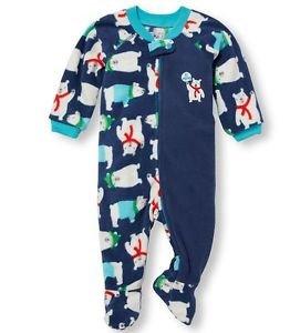 Toddler Boy's 3T Hi Mom! Winter Polar Bear Fleece Blanket Sleeper