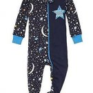 Boys 4T 'Center Of Mom's Universe' Space Split Print Footed Stretchie