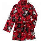 STAR WARS Boy's Size 8 OR 10/12 Fleece Bath Robe, Galactic Empire Bathrobe