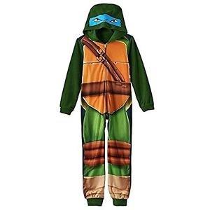 TEENAGE MUTANT NINJA TURTLES Boys 6/7, 8 OR 10/12 Hooded Fleece Pajama Sleeper