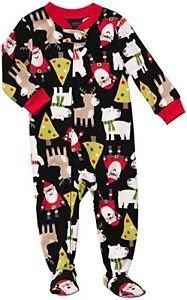 CARTER'S 24 Months Microfleece Fleece Pajama Sleeper, Christmas, Santa, Reindeer