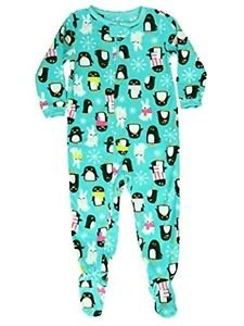 CARTER'S Girl's Size 4 Fleece Winter PENGUIN and BUNNY Footed Pajama Sleeper