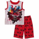 BATMAN And SUPERMAN Together We Fight Boy's Size 10/12 Pajama Shorts Set
