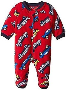 Toddler Boy's 5T Red Race Cars Fleece Footed Blanket Pajama PJ Sleeper