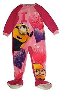 DESPICABLE ME I Heart Minions Size 6 OR 8 Footed Pajama Blanket Sleeper