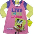 SPONGEBOB Girl's Size 4 LIVE, LOVE, LAUGH Nightgown w/ Keychain