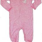CARTER'S Girl's Size 4T Hot Pink Kitty Cheetah Print Footed Pajama Sleeper