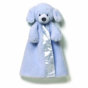Gund Baby Boy's Fluffy Puppy Dog Huggybuddy Blanket, Blue by GUND